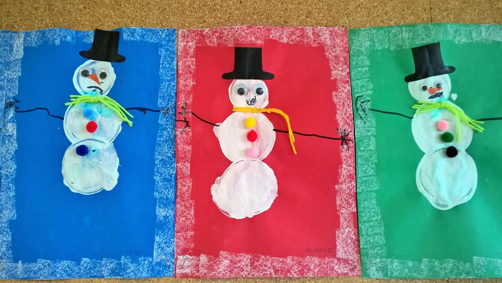 Bonhomme de neige 1 maternelle veux pas - Noel petite section ...