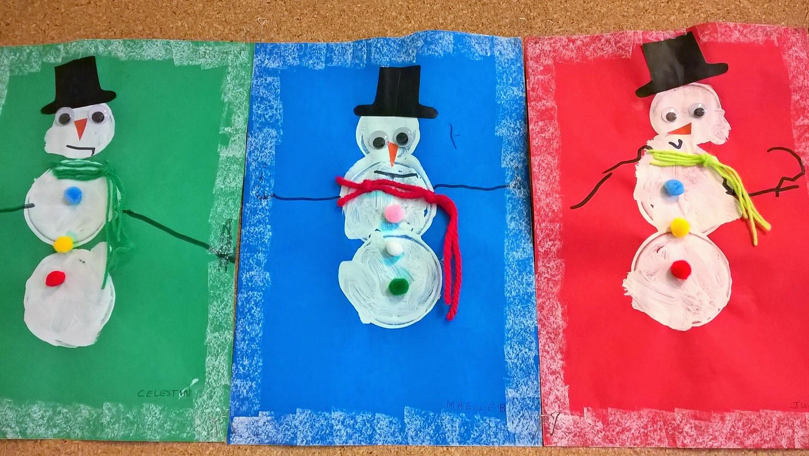 Bonhomme de neige 2 maternelle veux pas - Noel petite section ...
