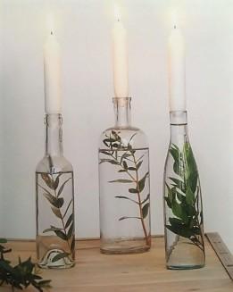 bouteilles bougeoirs végétale thérapie